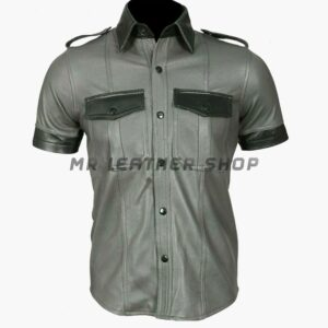 Mens Lambskin Leather Shirt