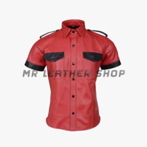 Red Leather Shirt