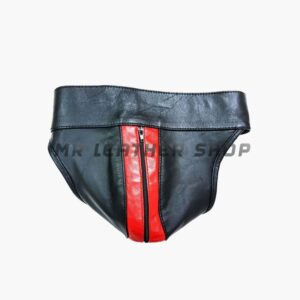mens leather underwear with zipper
